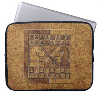 CHESS GAME IN STONE LAPTOP SLEEVE