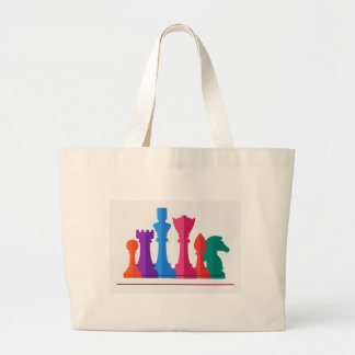 Chess Game Large Tote Bag