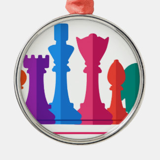 Chess Game Metal Ornament