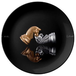 Chess Game Porcelain Plate