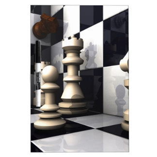 Chess Game Style Dry-Erase Board