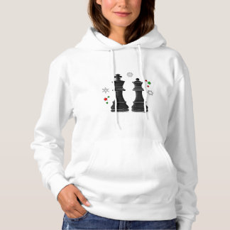 Chess King and Queen at Christmas Hoodie