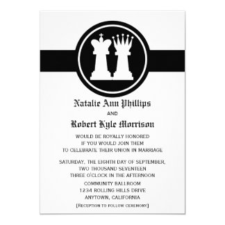 Chess King and Queen Wedding Invitation