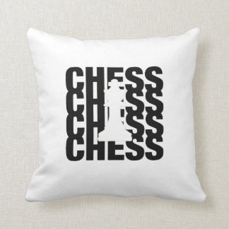 Chess King Black print Pillow