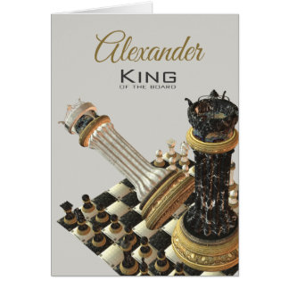 Chess King Of The Board Card