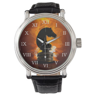 Chess Knight in Flames Wristwatch