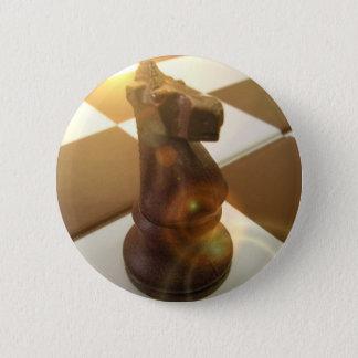 Chess Knight Round Button