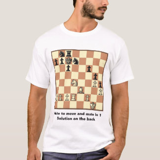 Chess Mate In 1 Puzzle #3 Basic T-Shirt