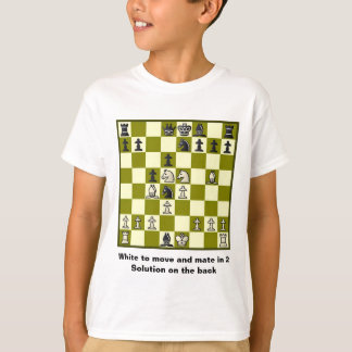 Chess Mate In 2 Puzzle #2 T-Shirt