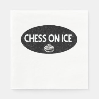 Chess on Ice Curling Paper Napkins