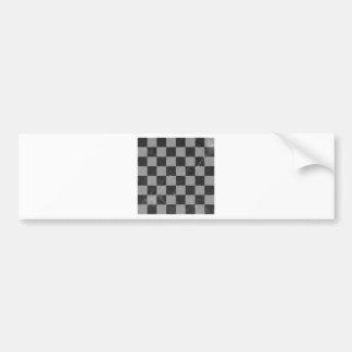 Chess pattern bumper sticker