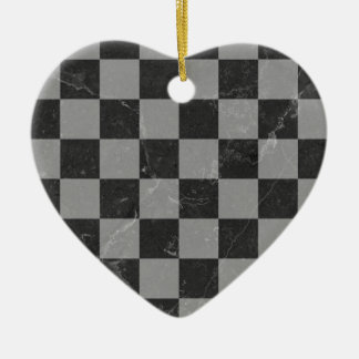 Chess pattern ceramic ornament