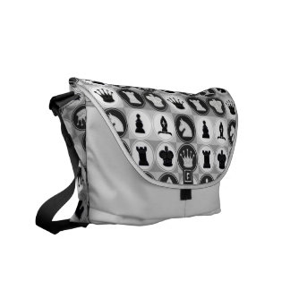 Chess Pattern Courier Bags