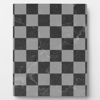 Chess pattern plaque
