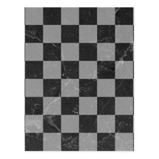 Chess pattern postcard