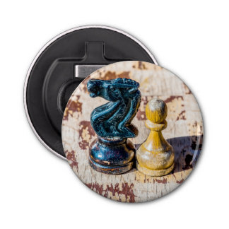 Chess Pawn and Knight - Veterans Bottle Opener