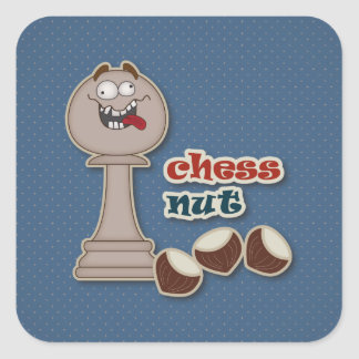Chess Pawn, Chess Nuts and Chestnuts Square Sticker