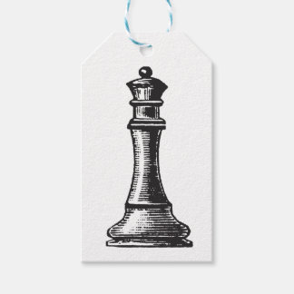 Chess piece gift tags