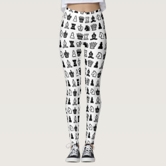 Chess Piece Pattern Leggings