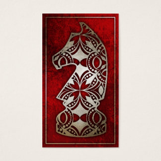 Chess Piece - Red Knight Business Card
