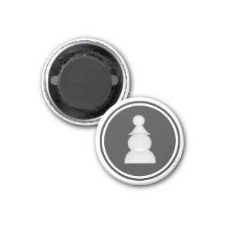 Chess Piece White Pawn 1 Inch Round Magnet