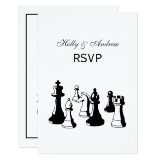 Chess Pieces Vintage Art #2 Card