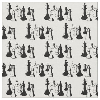 Chess Pieces Vintage Art #2 Fabric