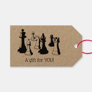 Chess Pieces Vintage Art #2 Gift Tags
