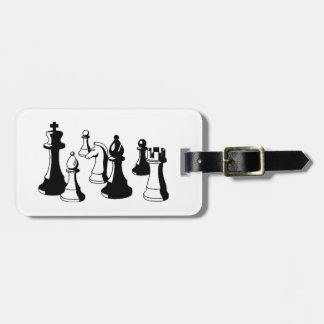 Chess Pieces Vintage Art #2 Luggage Tag