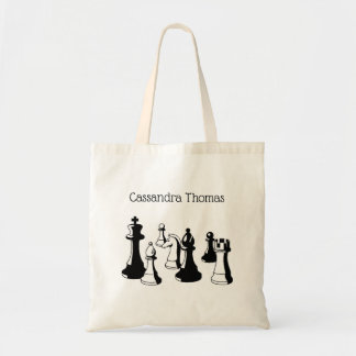 Chess Pieces Vintage Art #2 Tote Bag