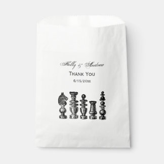 Chess Pieces Vintage Art Favour Bag