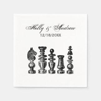 Chess Pieces Vintage Art Paper Napkins