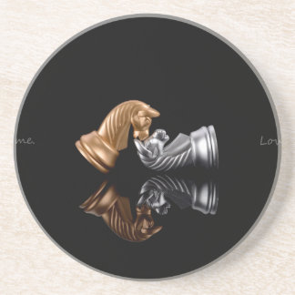 Chess Play Game Beverage Coasters