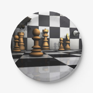 Chess Play King 7 Inch Paper Plate