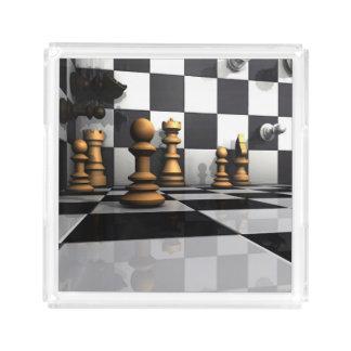 Chess Play King Acrylic Tray