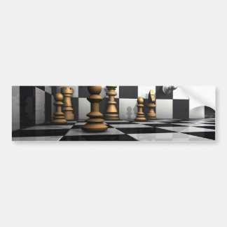 Chess Play King Bumper Sticker