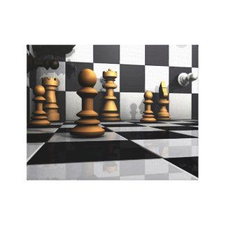 Chess Play King Canvas Print