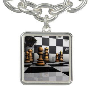 Chess Play King Charm Bracelet