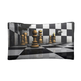 Chess Play King Cosmetic Bag