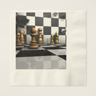 Chess Play King Disposable Napkin