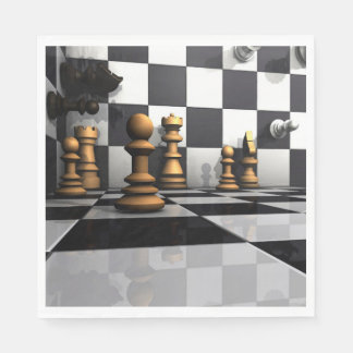 Chess Play King Disposable Napkins