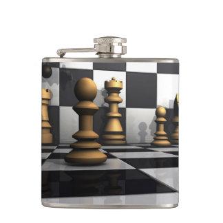 Chess Play King Hip Flask