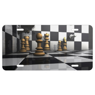 Chess Play King License Plate