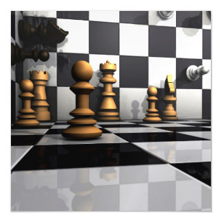 Chess Play King Magnetic Invitations