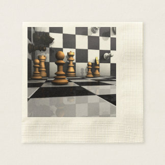 Chess Play King Paper Napkins