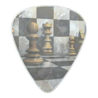 Chess Play King Pearl Celluloid Guitar Pick