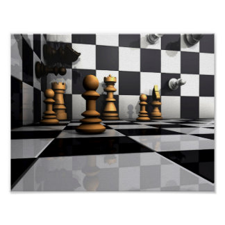 Chess Play King Poster