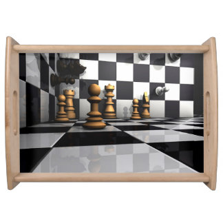 Chess Play King Serving Tray