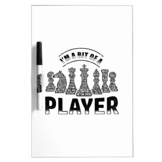 Chess Player Dry Erase Board