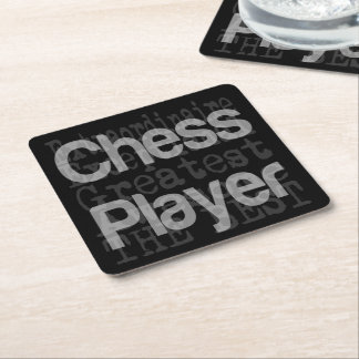 Chess Player Extraordinaire Square Paper Coaster